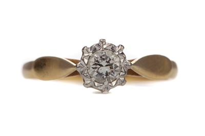 Lot 462 - A DIAMOND SOLITAIRE RING