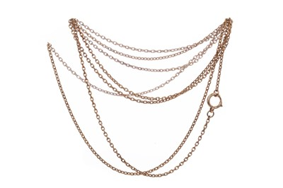 Lot 423 - AN UNMARKED GUARD CHAIN