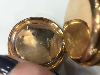 Lot 734 - AN ELGIN GOLD FULL HUNTER POCKET WATCH