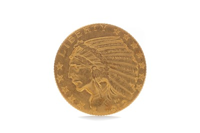 Lot 83 - A GOLD INDIAN HEAD FIVE DOLLAR COIN DATED 1912