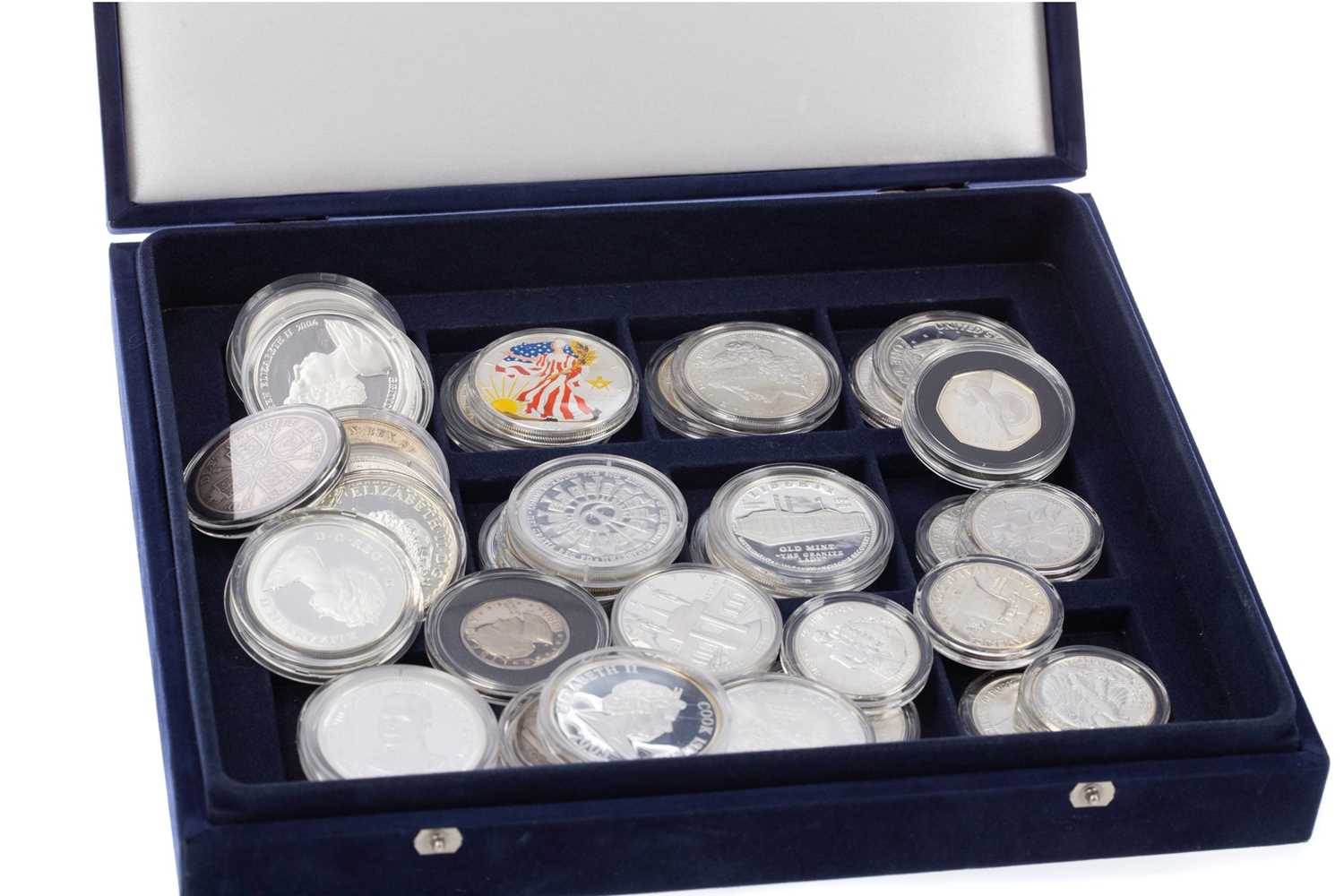 Lot 90 - A COLLECTION OF MAINLY BRITISH AND AMERICAN SILVER COINS
