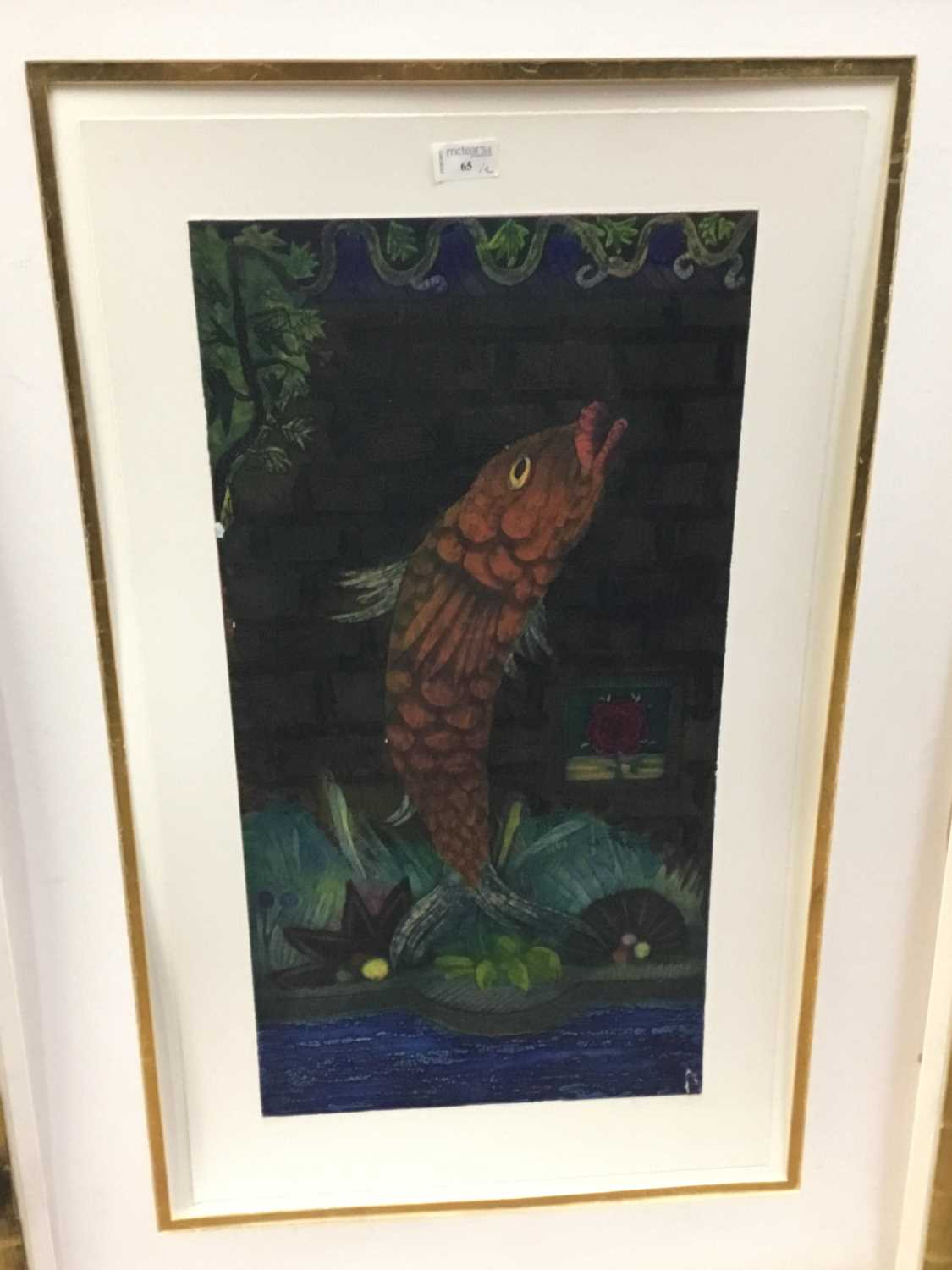 Lot 65 - A PAIR OF FRAMED PRINTS OF FISH