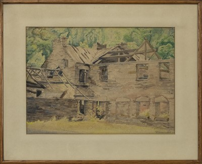 Lot 456 - COTTAGE, A WATERCOLOUR BY K N GREENWOOD