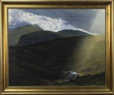 Lot 457 - HONISTER PASS, AN OIL BY N CARTER