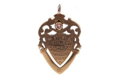 Lot 1704 - A VERY SCARCE GLASGOW NORTH EASTERN FOOTBALL MEDAL AWARDED TO CELTIC FC 1888-89