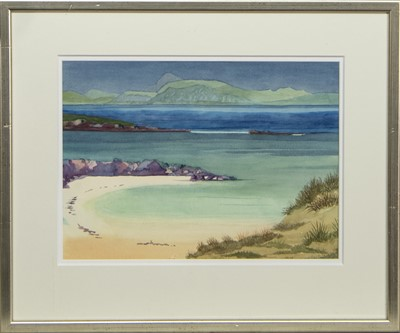 Lot 463 - SCOTTISH BEACH, A WATERCOLOUR ATTRIBUTED TO TOM SHANKS