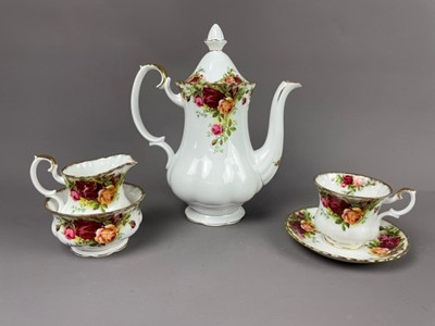 Lot 5 - A ROYAL ALBERT OLD COUNTRY ROSES COFFEE SET