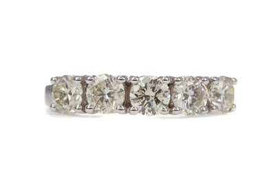 Lot 408 - A CERTIFICATED DIAMOND FIVE STONE RING