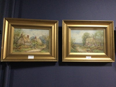 Lot 101 - A PAIR OF WATERCOLOURS BY FRANK B. JOWETT ALONG WITH THREE OTHER PICTURES