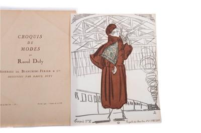 Lot 1329 - CROQUIS DE MODES PAR RAOUL DUFY