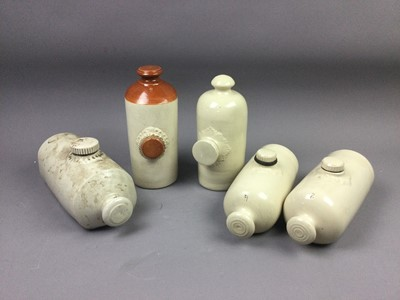 Lot 67 - A LOT OF EIGHT STONEWARE HOT WATER BOTTLES