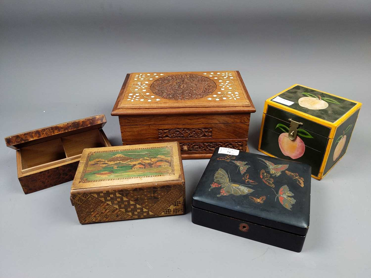 Lot 74 - A COLLECTION OF NINE BOXES