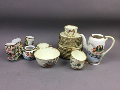 Lot 84 - A LIMOGES TEA SERVICE ALONG WITH A CHINESE COFFEE SERVICE