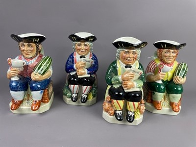 Lot 108 - A KEVIN FRANCIS 'THE GARDENER' LIMITED EDITION TOBY JUG ALONG WITH THREE OTHERS
