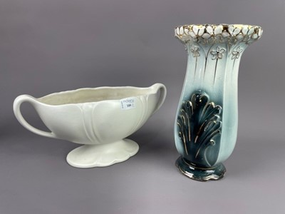 Lot 109 - A BESWICK CENTREPIECE IN THE MANNER OF CONSTANCE SPRY ALONG WITH A CERAMIC VASE