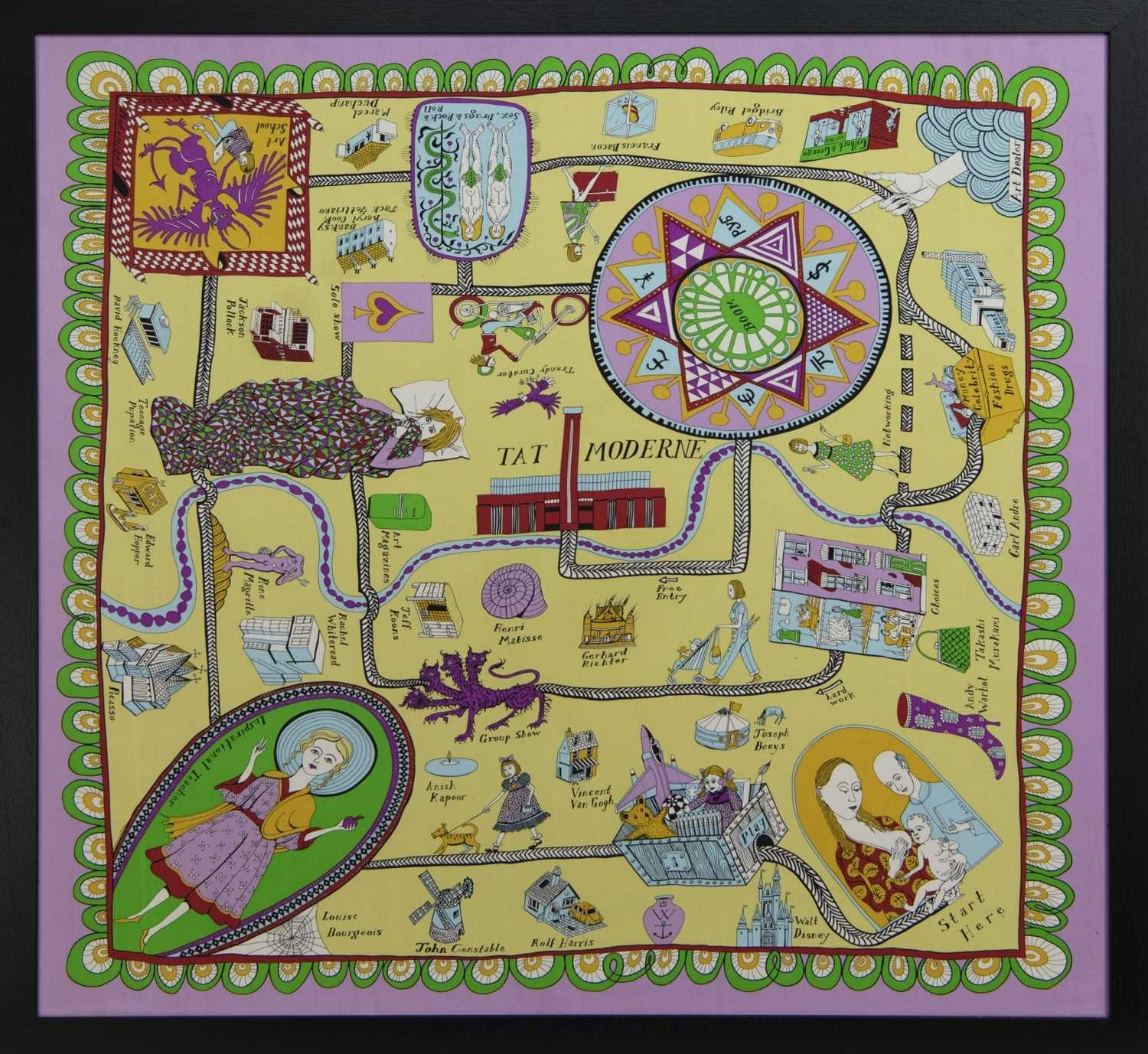 Lot 637 - 100% SILF SCARF BY GRAYSON PERRY