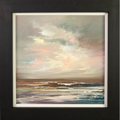 Lot 684 - STORMY MORNING VI, AN OIL BY PHILIP RASKIN
