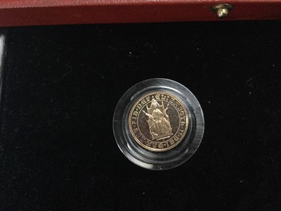 Lot 96 - THE 500TH ANNIVERSARY OF THE SOVEREIGN GOLD PROOF THREE COIN SET
