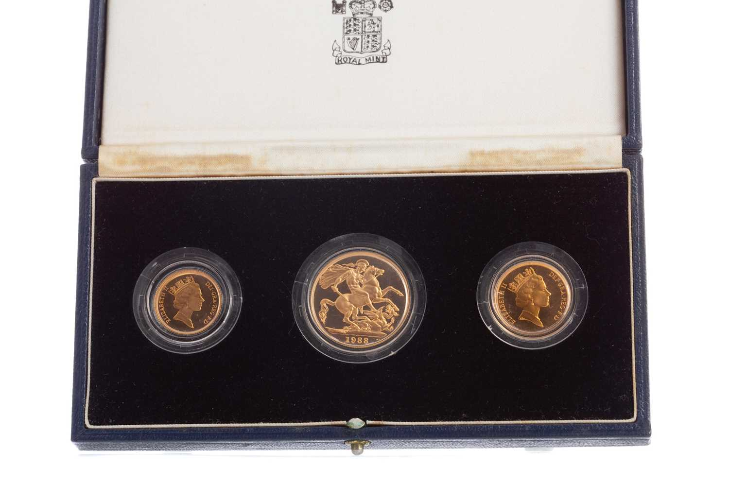 Lot 97 - THE 1988 GOLD PROOF THREE COIN SET