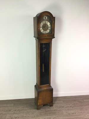 Lot 1124 - A WHITTINGTON WESTMINSTER OAK GRANDMOTHER CLOCK