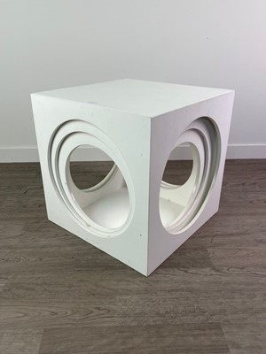Lot 127 - A MODERNIST NEST OF THREE CUBE TABLES