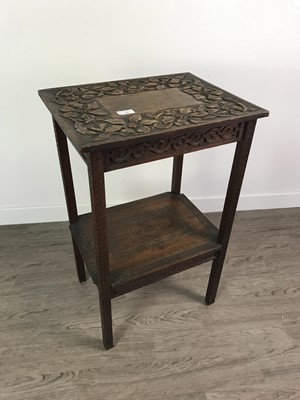 Lot 128 - A LATE 19TH CENTURY CARVED WOOD OCCASIONAL TABLE