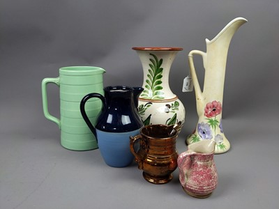 Lot 156 - A RADFORD POTTERY JUG ALONG WITH OTHER CERAMICS