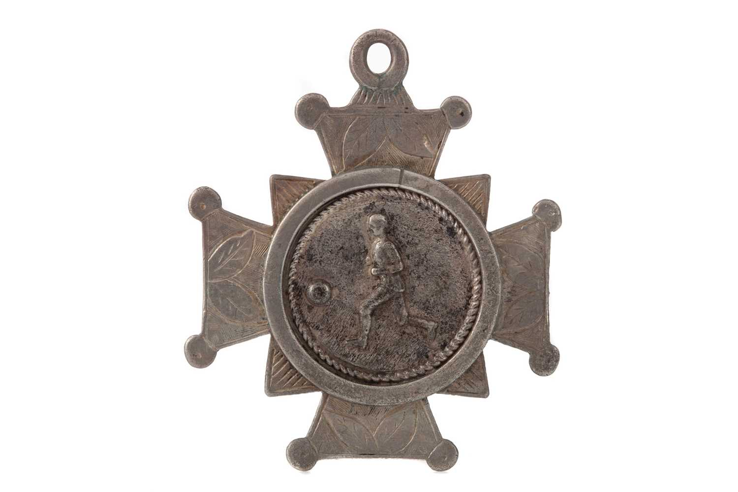 Lot A '5 A SIDE' FOOTBALLING SILVER MEDAL 1886