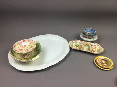 Lot 166 - A ROYAL WINTON CHINTZ COMPORT AND OTHER CERAMICS