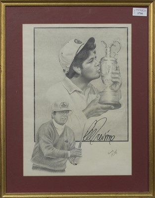 Lot 1716 - AN AUTOGRAPHED PRINT OF LEE TREVINO