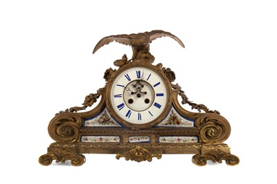 Lot 1104 - A LATE 19TH CENTURY FRENCH EIGHT DAY MANTEL CLOCK