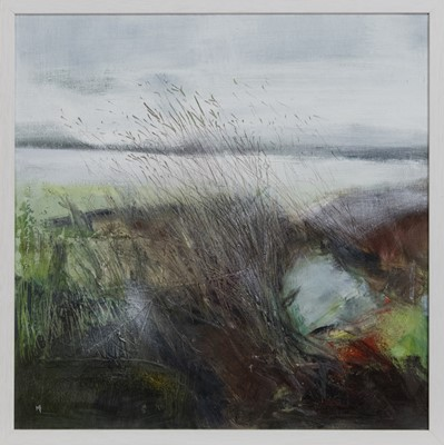 Lot 645 - WINTER WALK, A MIXED MEDIA BY MAY BYRNE