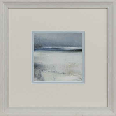 Lot 653 - WINTER SHORE, AN OIL BY MAY BYRNE