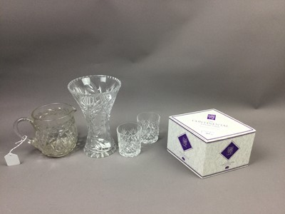 Lot 162 - A LOT OF SIX EDINBURGH CRYSTAL WHISKY GLASSES ALONG WITH OTHER CRYSTAL