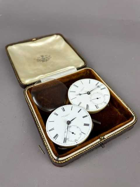 Lot 22 - A LOT OF TWO POCKET WATCH MOVEMENTS AND A ROLEX PRIMA MOVEMENT