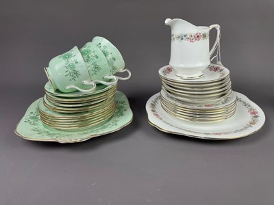 Lot 152 - A PARAGON 'BELINDA' PATTERN TEA SERVICE AND TWO OTHER TEA SERVICES