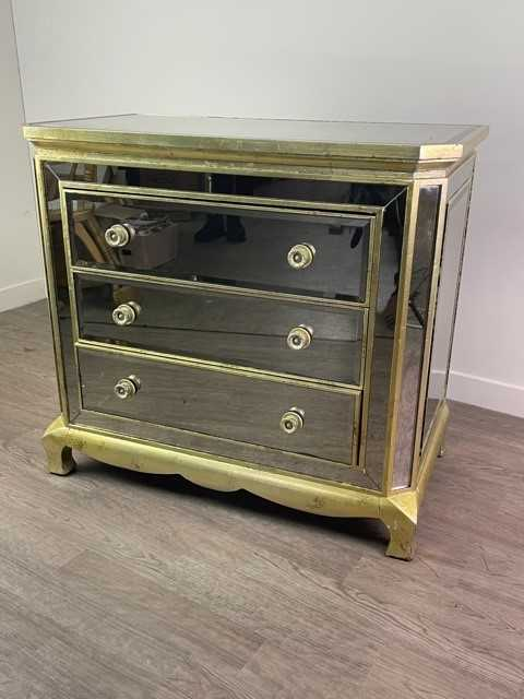 Lot 35 - A MIRRORED CHEST BY COACH HOUSE FURNITURE