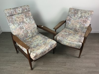 Lot 173 - A NEAR PAIR OF RETRO ARMCHAIRS