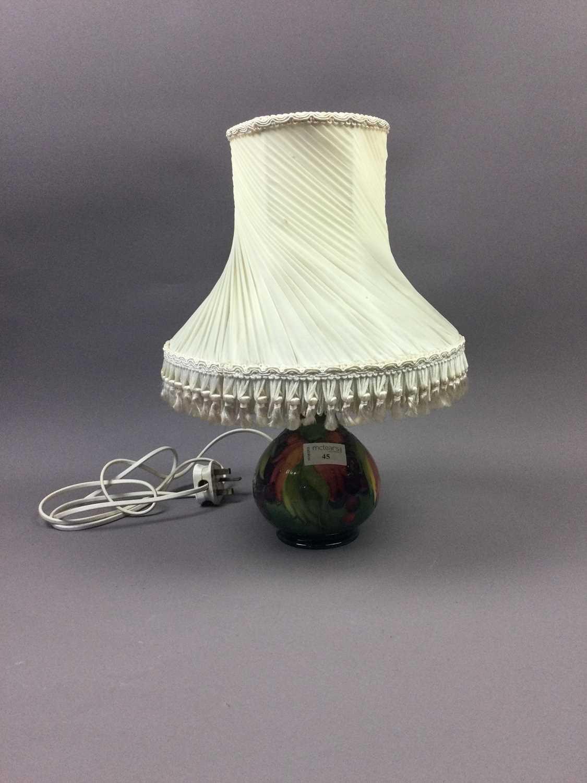 Lot 45 - A MOORCROFT TABLE LAMP