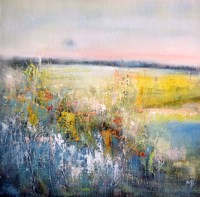 Lot 107 - MAY BYRNE, SUMMER CROFT oil on board, signed...