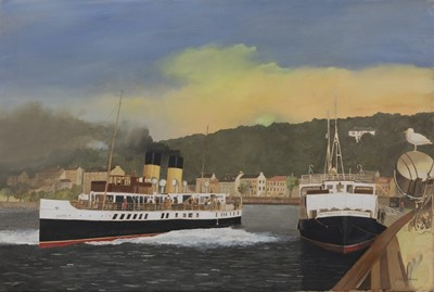 Lot 121 - JUPITER AT ROTHESAY, AN OIL BY PETER ST CLAIR MERRIMAN