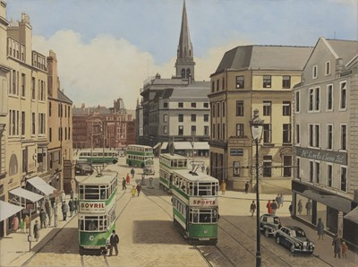 Lot 123 - DUNDEE, AN OIL BY PETER ST CLAIR MERRIMAN