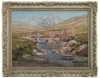 Lot 108 - HIGHLAND RIVER, AN OIL ATTRIBUTED TO GEORGE HOUSTON