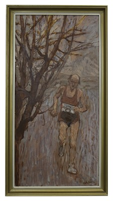 Lot 661 - THE RUNNER, AN OIL BY MARTIN BAILLIE