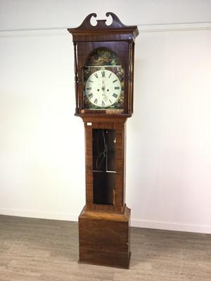 Lot 1130 - A 19TH CENTURY MAHOGANY LONGCASE CLOCK