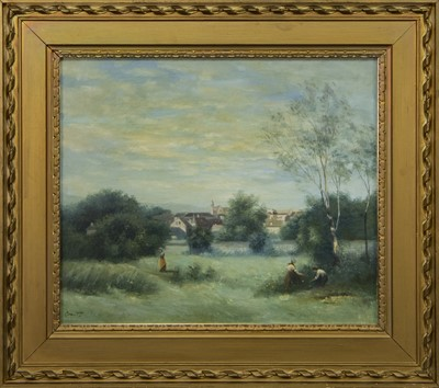 Lot 443 - AT WORK, AN OIL