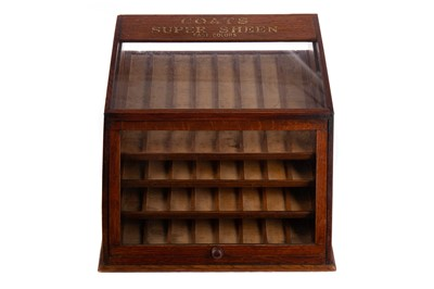 Lot 1374 - AN EARLY 20TH CENTURY TABLE TOP ADVERTISING DISPLAY CABINET