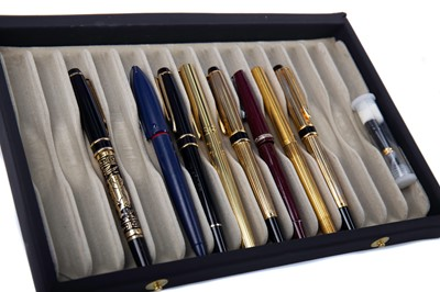 Lot 1375 - TWO DUPONT FOUNTAIN PENS