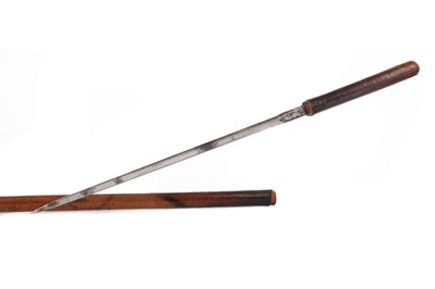Lot 1380 - A 19TH CENTURY LEATHER BOUND SWAGGER SWORD BY SWAINE, ADENAY & BRIGG PICCADILLY LONDON