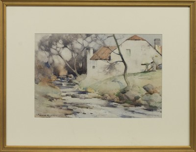 Lot 135 - THE OLD MILL, A WATERCOLOUR BY ROBERT RUSSELL MACNEE